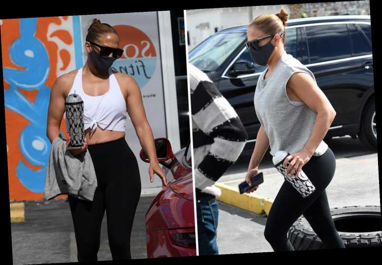 JLo, 51, flaunts washboard abs in tiny white crop top in Miami as she gets fit four days before Inauguration performance