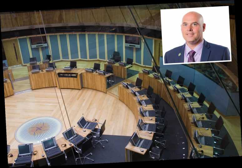 Wales Tory leader Paul Davies quits after secret boozy party with other politicians in Welsh Parliament