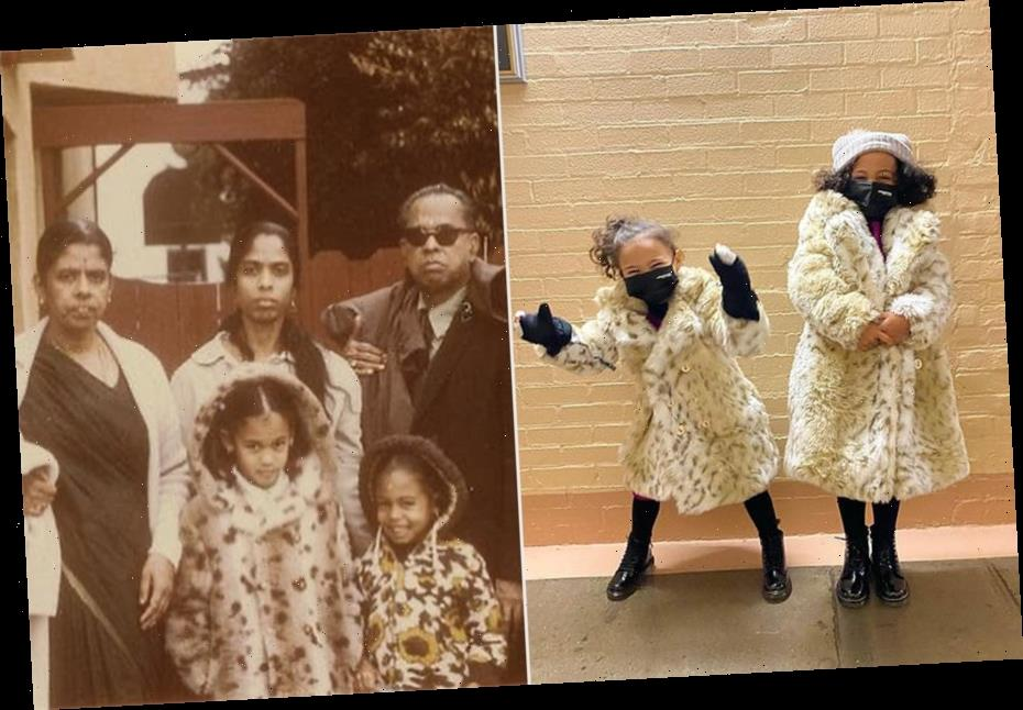 Kamala Harris' Great Nieces Wear Custom Inauguration Coats Inspired by Her Own Childhood Jacket