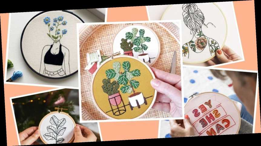 11 beautiful embroidery kits for people who want to try something new in lockdown