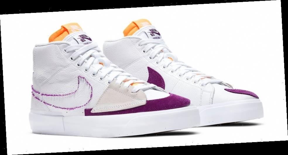 "Nike SB's Archives Inform Zoom Blazer Mid Edge ""White/Viotech"""
