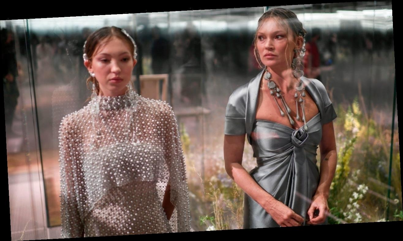 Kate Moss Walks the Runway With 18-Year-Old Daughter Lila