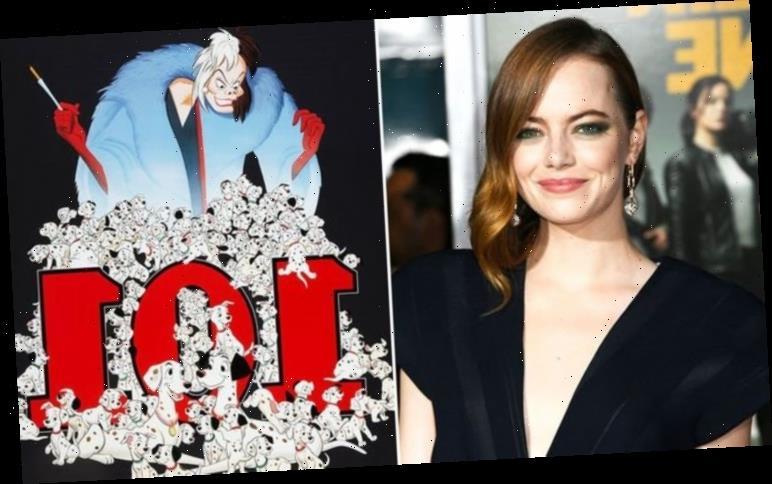 Cruella movie pictures: Emma Stone unrecognisable as 101 Dalmatians villain in new prequel