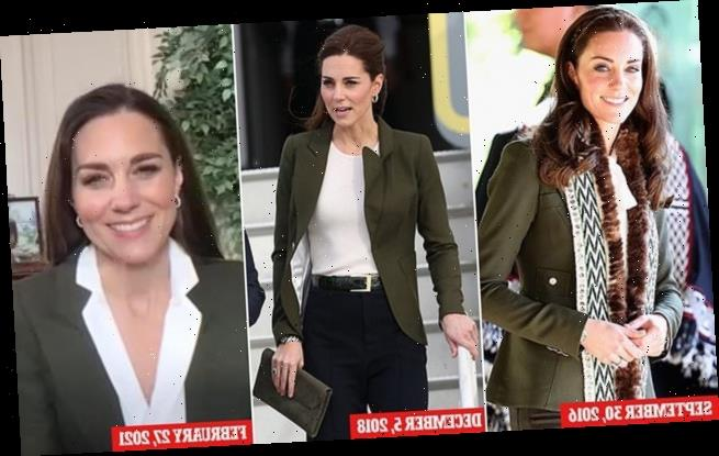Duchess of Cambridge wears a green Smythe Blazer for the third time
