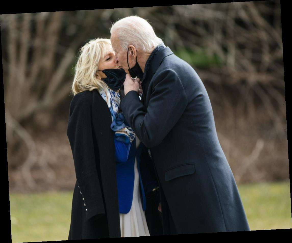 Dr. Jill Biden arranged for 'valentines' to be placed on the White House lawn
