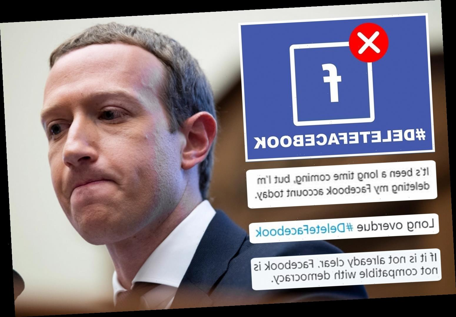 #DeleteFacebook campaign rages as users ditch site in protest over 'bullying' Aussie news ban