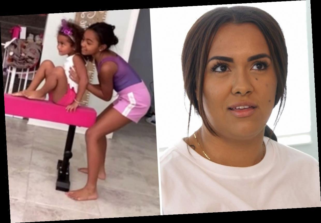 Teen Mom Briana DeJesus slammed for not having mats for daughters Nova, 9, and Stella, 4, during gymnastics routine