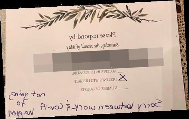 Bride-to-be stunned by guest's 'rude' RSVP – but some think he was in the right