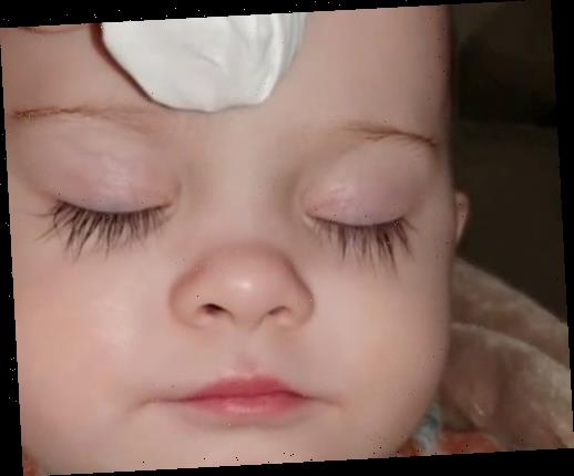 Mum slammed for putting fake eyelashes on her one-year-old baby – but she insists her girl's super-long look is natural