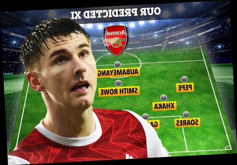 How Arsenal could line up against Benfica with Kieran Tierney back in training ahead of Europa League clash