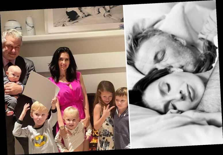 Hilaria Baldwin cuddles with husband Alec & kids in return to Instagram after being slammed for 'faking' Spanish roots