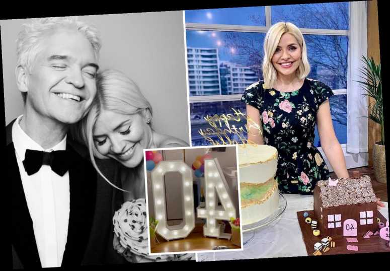 Holly Willoughby gives emotional thank you to 'best friend' Phillip Schofield and This Morning for 'special' 40th treats