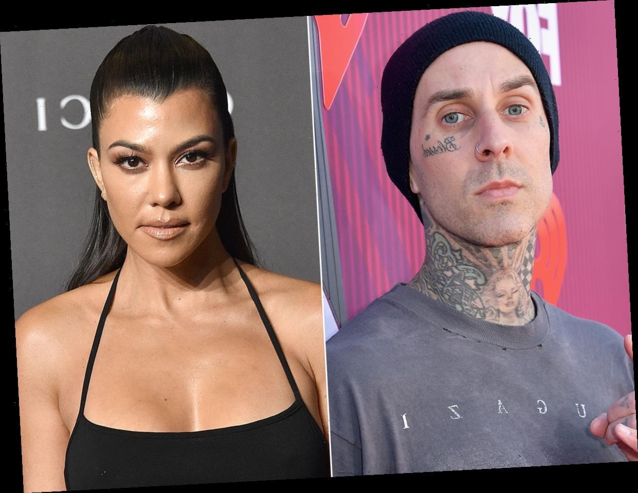 Kourtney Kardashian and Travis Barker Celebrate Their First Valentine's Day Together