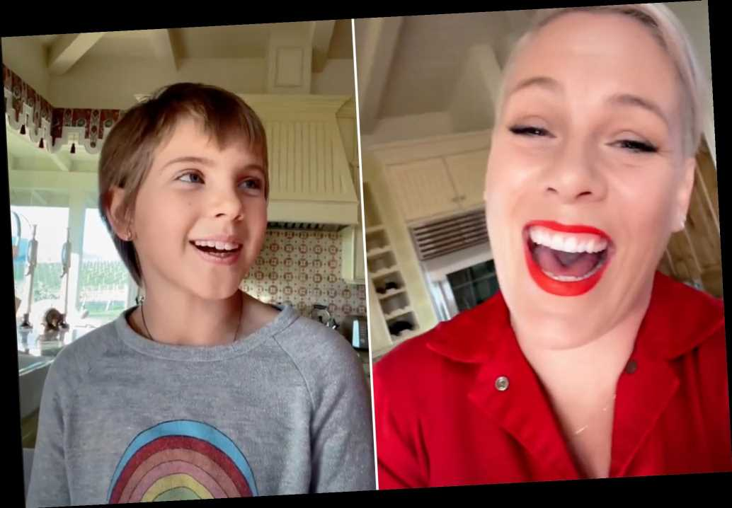 Pink makes TikTok debut with video of 9-year-old daughter Willow singing