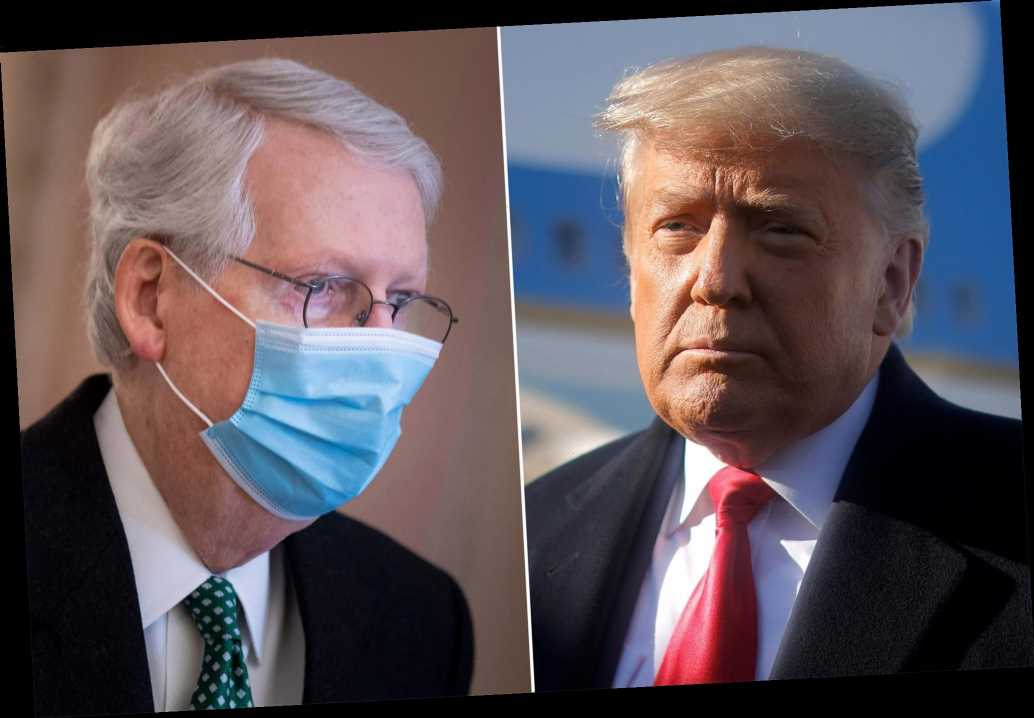Trump urges ouster of 'unsmiling political hack' Mitch McConnell