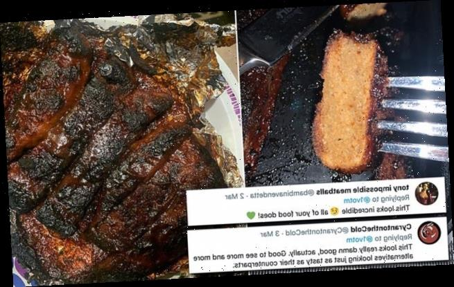 Man's shockingly realistic VEGAN 'RIBS' are made out of BREAD