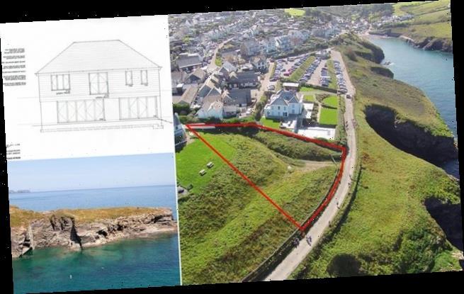 Empty plot of land overlooking Cornish coast goes on sale for £795,000