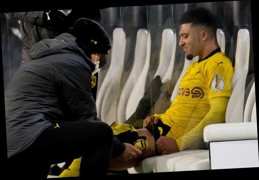 Jadon Sancho facing month out with Dortmund star set to miss England's World Cup qualifying treble with muscle injury