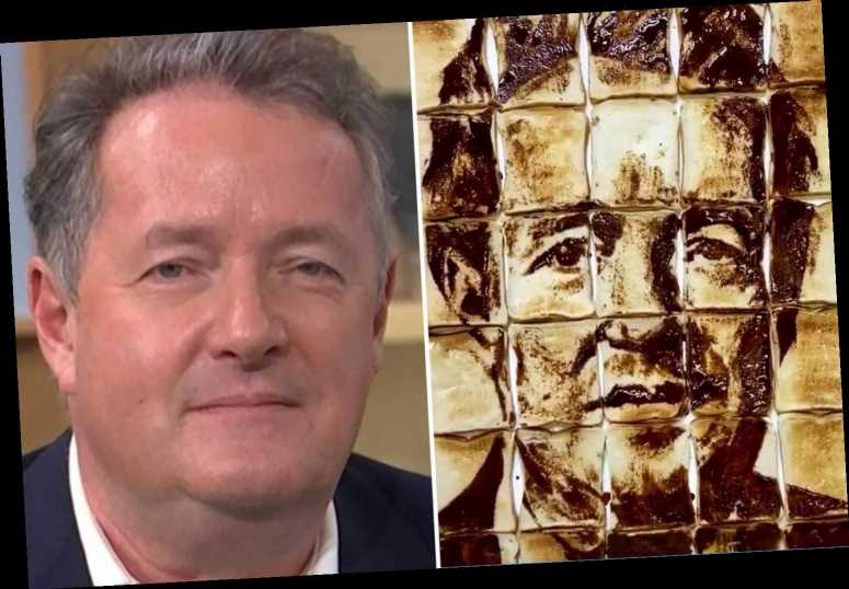 Piers Morgan thrilled as fan makes portrait of controversial star out of Marmite and toast after GMB exit