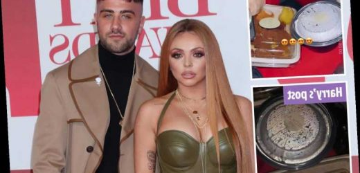 Jesy Nelson sparks speculation she's back with ex Harry James as fans spot them enjoying same takeaway