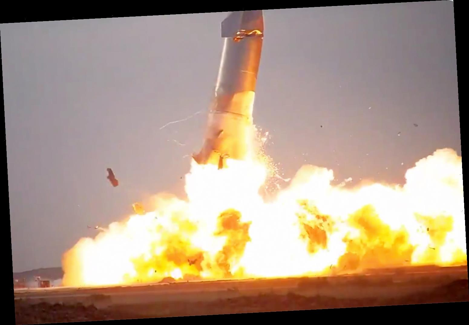 SpaceX Prototype Rocket Explodes Minutes After Making First Successful Landing