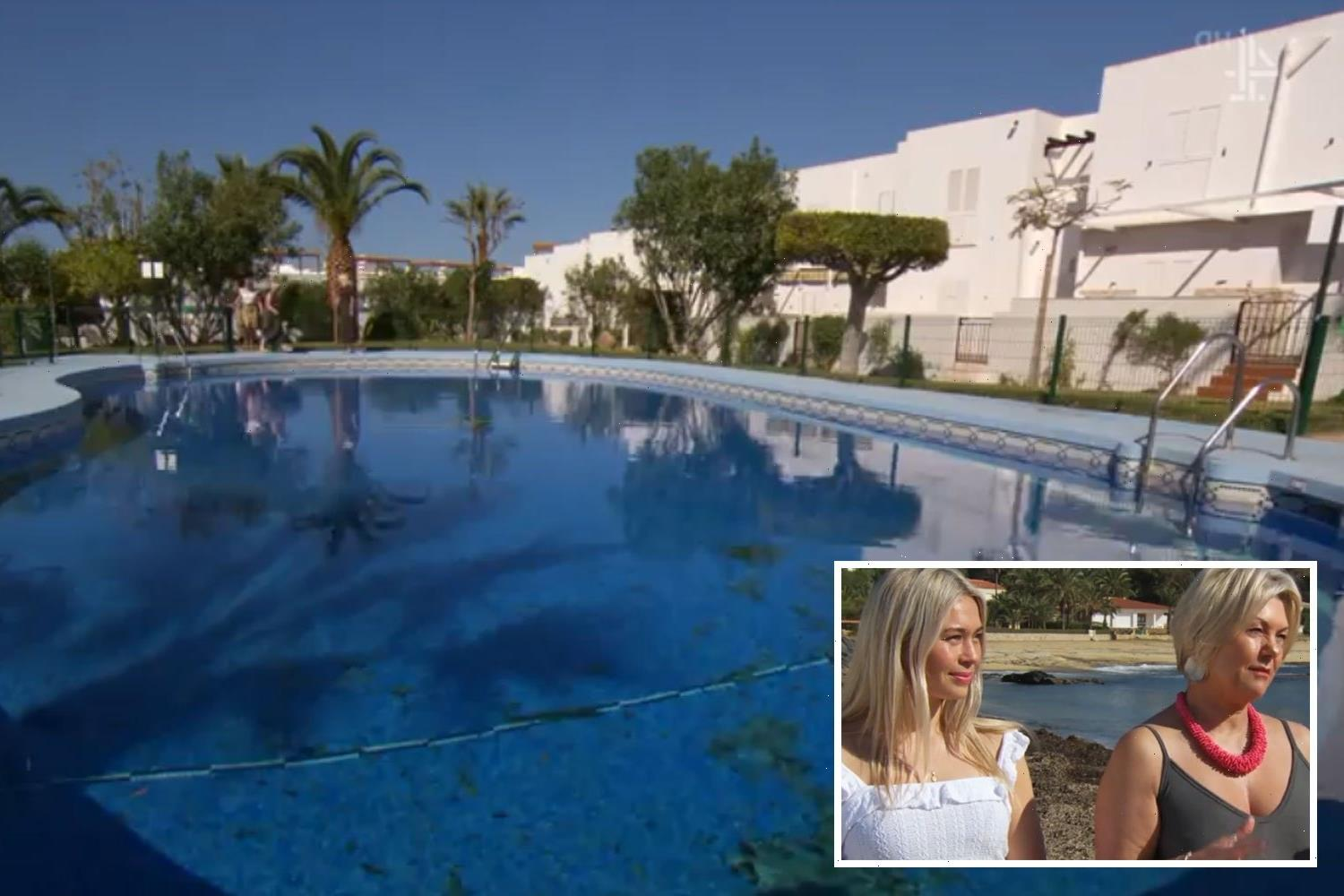 A Place in the Sun pair call out something VERY wrong with swimming pool outside plush villa