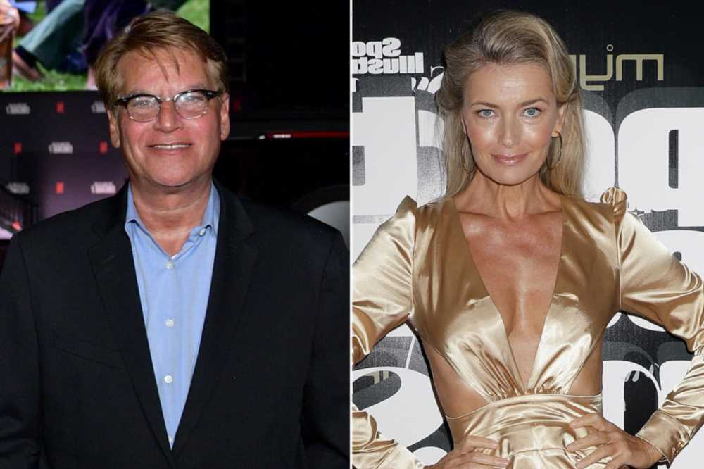 Aaron Sorkin, Paulina Porizkova make debut as a couple at Oscars red carpet