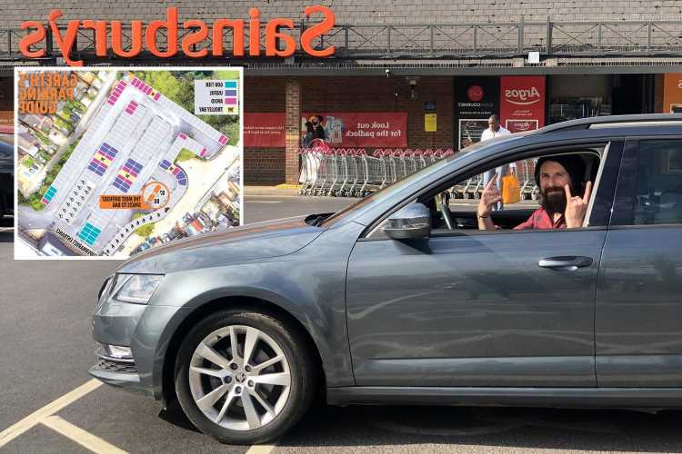 Bored dad completes six-year mission to park in all 211 bays at his local Sainsbury's