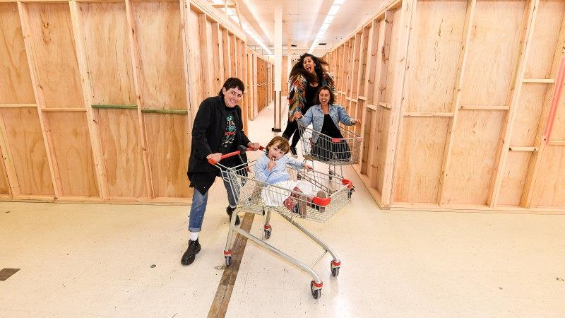 Check-out chic: Coburg Coles is being converted into an artists' studio