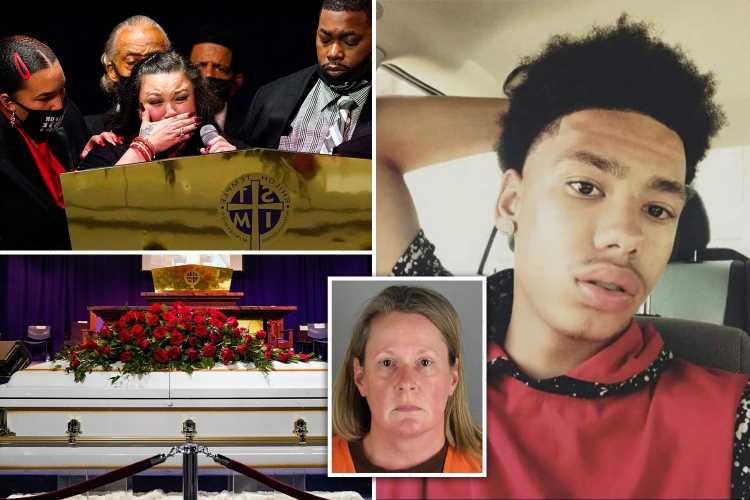 Daunte Wright's mom says at funeral 20-year-old 'was loved by so many' & he 'should be burying HER' in tearful remarks