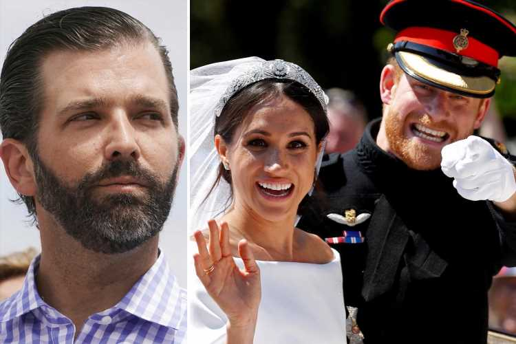Donald Trump Jr mocks Meghan and Prince Harry's $25million Spotify contract as musicians fume over megadeal