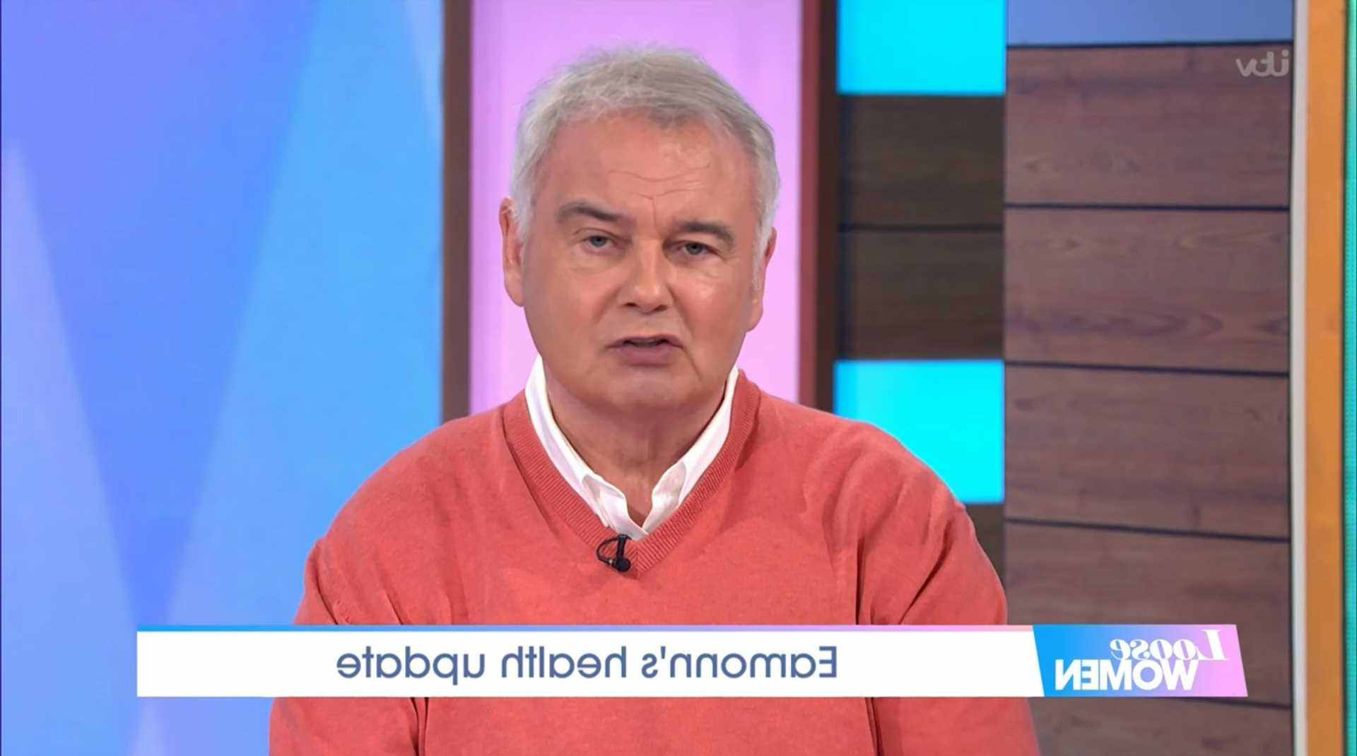 Eamonn Holmes on crutches as he shares heartbreaking update on his chronic pain battle