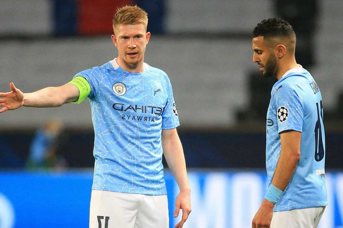 Kevin De Bruyne reveals inspirational words he told Man City ace Riyad Mahrez in build-up to free-kick winner at PSG