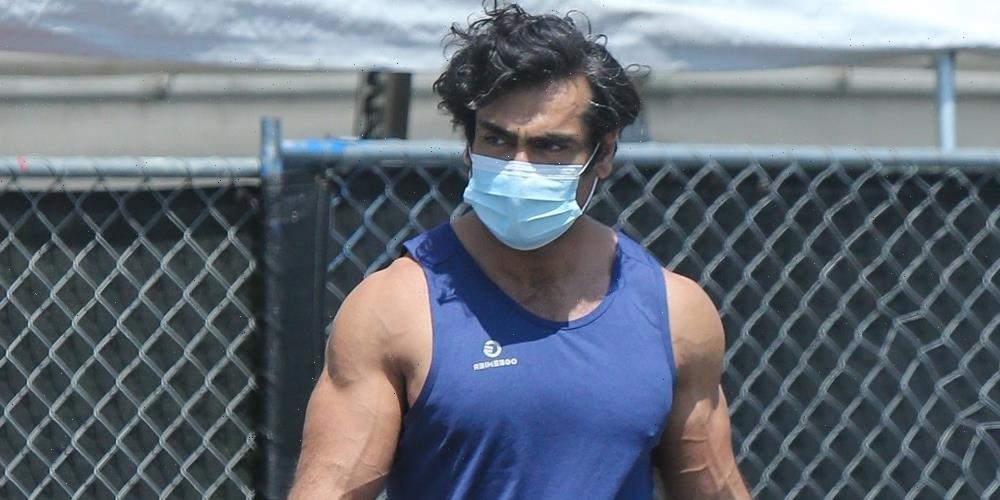 Kumail Nanjiani Puts His Muscles On Display Following Workout in LA