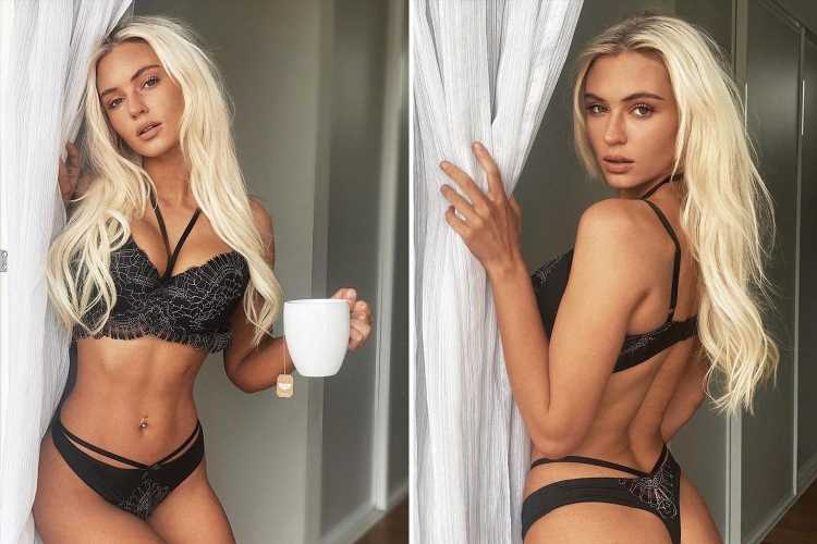 Love Island's Lucie Donlan looks incredible as she poses in black lace bra and thong