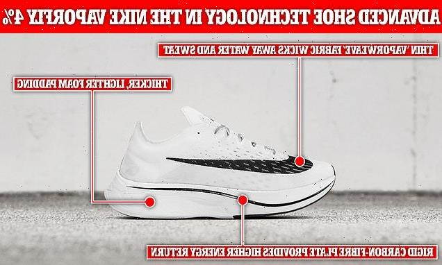 Nike Vaporfly 4% trainers boost athletes' performance by up to 1.7%