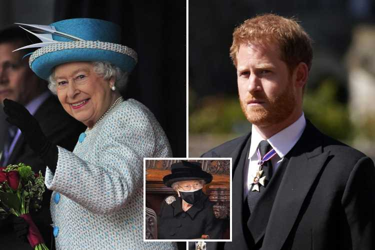 Prince Harry met Queen privately 'at least twice' and spoke with Charles & William after Philip's funeral, pal claims