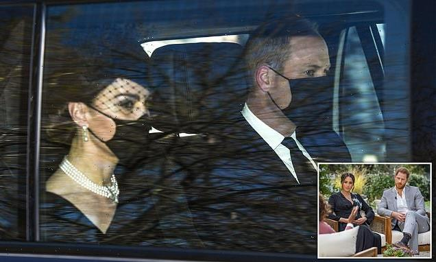 Prince Philip's funeral: Kate Middleton travels to St George's Chapel