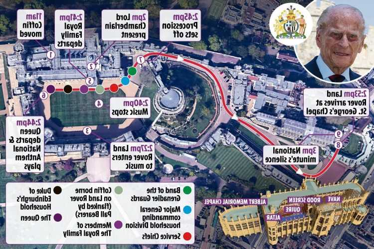 Prince Philip's final journey – Full route Duke's coffin will take before being laid to rest in Windsor