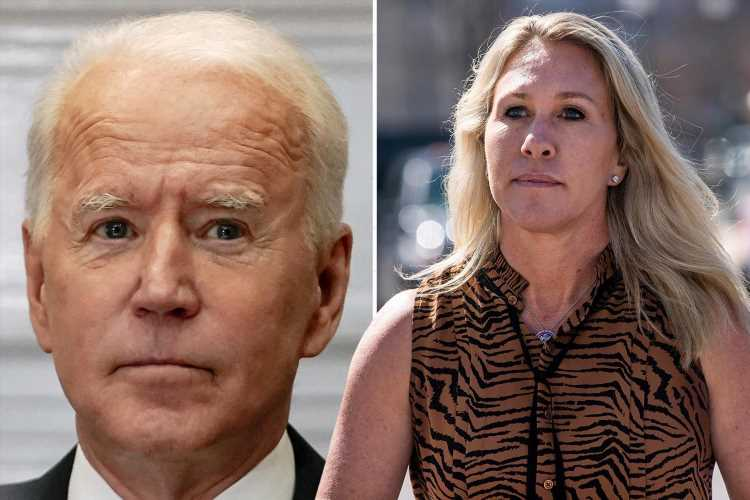 QAnon Rep Marjorie Taylor Greene accuses Biden of 'funding TERRORISM' with 'outrageous and appalling' payout