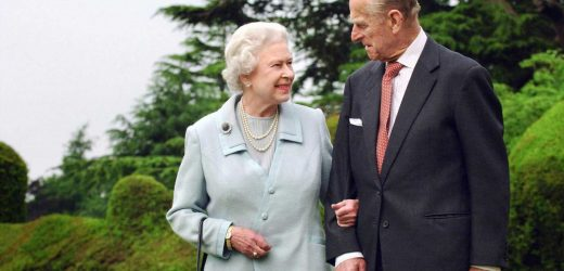 Queen seen for first time since Prince Philip's death as she heads to Frogmore to walk new puppies before funeral