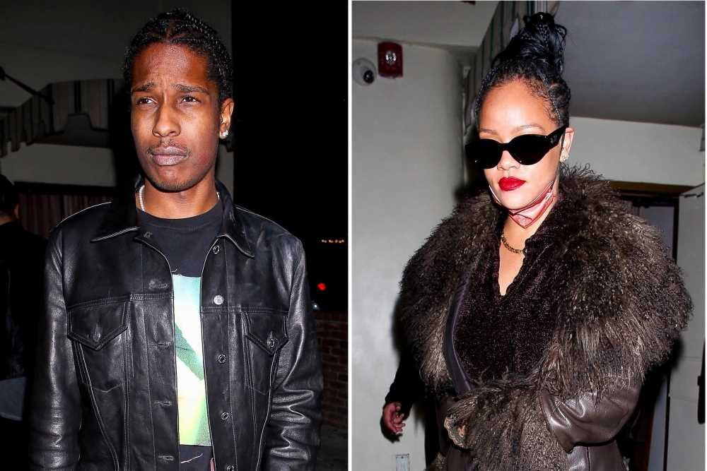 Rihanna and A$AP Rocky match in leather outfits for date night