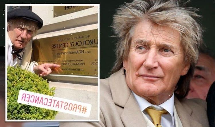 Rod Stewart addresses dangers of prostate cancer at clinic as he urges fans to get test