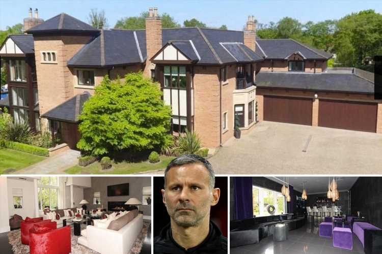 Ryan Giggs finally sells mansion after slashing £500,000 off price to £3m – two-years after Man Utd icon put on market
