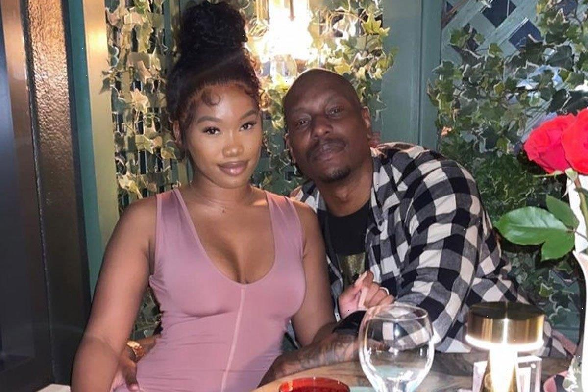 Tyrese Gibson, 42, shaves his 25-year-old girlfriend's pubic hair in video shared online as she slams 'haters'