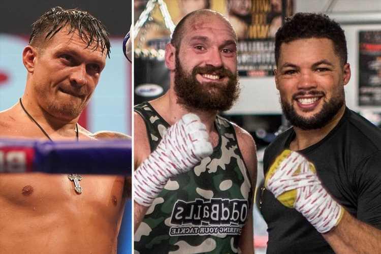 Tyson Fury writes off Oleksandr Usyk's heavyweight chances and tips Joe Joyce to 'nail him' ahead of Joshua fight