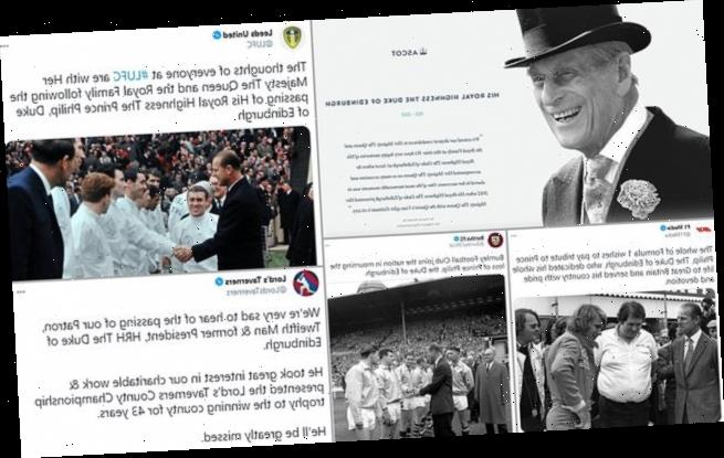 The sporting world pays tribute to Prince Philip after his death at 99