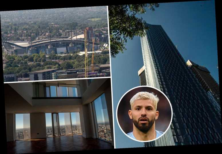 Inside Man City star Aguero's new 45th-floor £4m penthouse apartment dubbed 'Manchester's most iconic address'