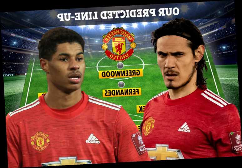 How Man Utd could line up at Granada amid striker crisis with Martial out, Rashford a doubt and Cavani struggling