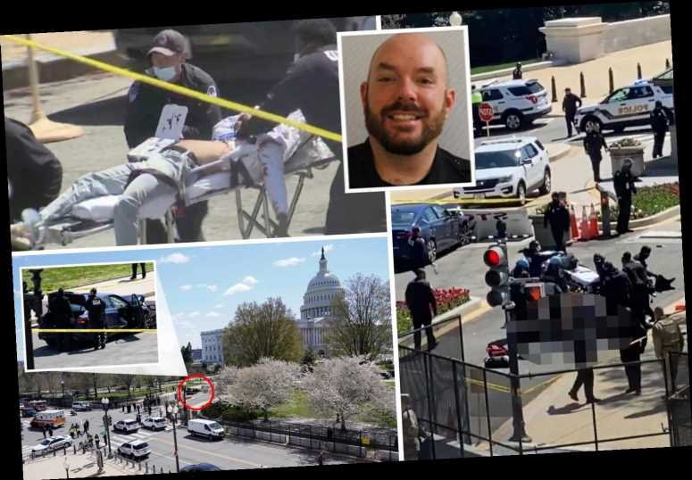Capitol cop killed after suspect with knife rams car into barrier before being shot dead by officers
